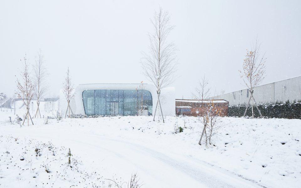 Swarovski Kristallwelten Außenansicht Winter © David Schreyer