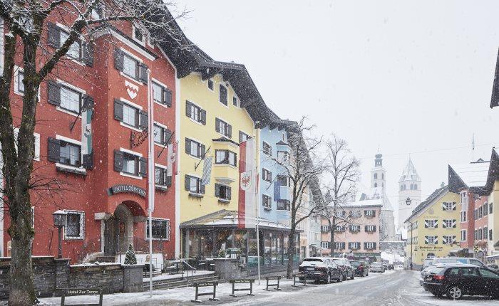 Hotel zur Tenne Außenansicht Winter © David Schreyer