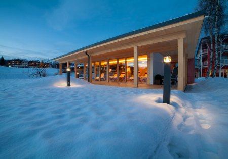 BioTop Außensauna Winter - Das Hotel Eden
