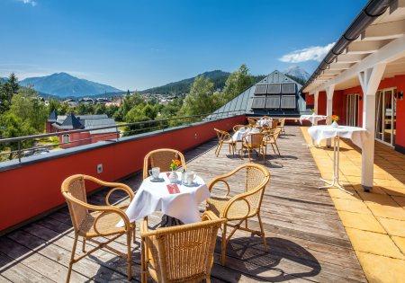 Panoramaterasse - Das Hotel Eden