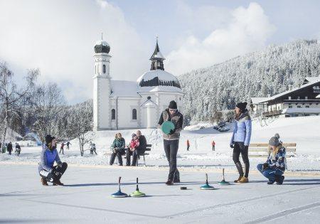 Eisstockschießen bem Seekirchl - Olympiaregion Seefeld