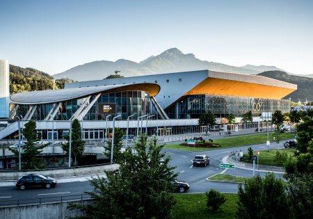 Sonnenuntergang Olympiaworld Innsbruck