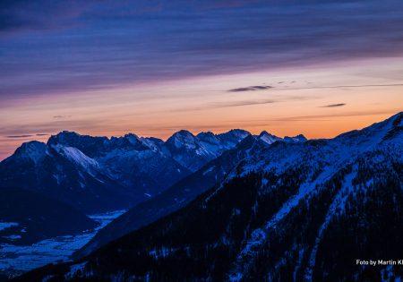 Aussicht am Morgen -Venet Gipfelhütte © Klotz Martin