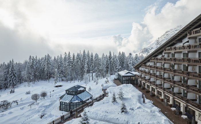 Außenansicht Winter - Interalpen-Hotel Tyrol © David Schreyer