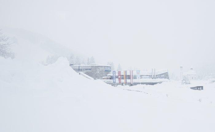 Außenansicht Winter - Olympiasport- und Kongresszentrum © David Schreyer