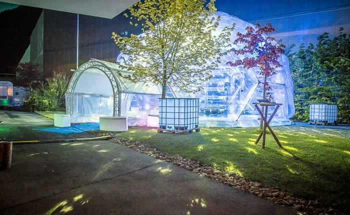 Airdome beleuchtet © Murdock Events
