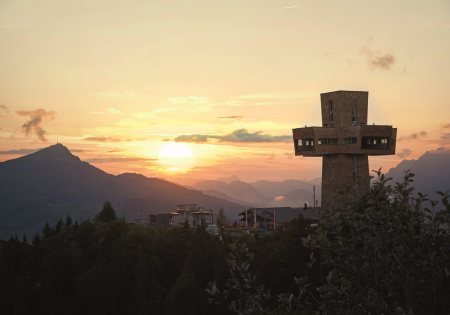 Sonnenuntergang Jakobskreuz @ Bergbahnen Pillersee